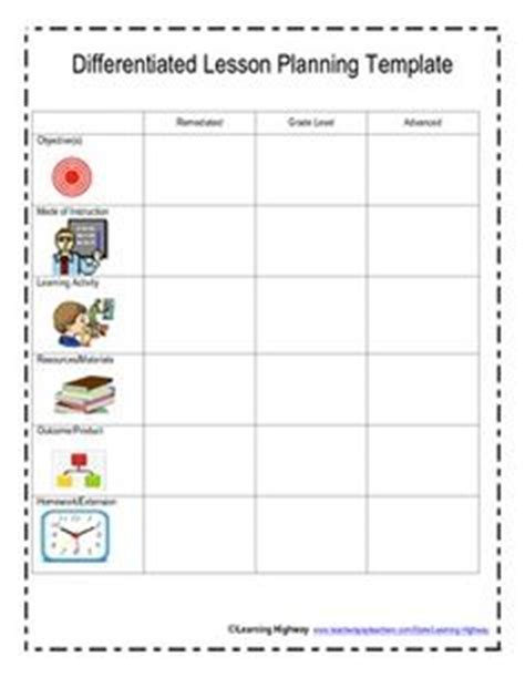 Tiered Planning Template by 1000 Images About Kindergarten Differentiation On