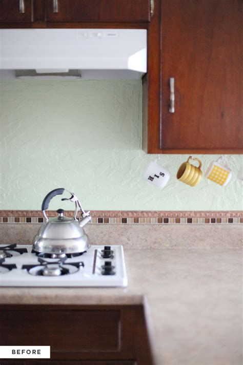 how to install backsplash in kitchen how to an inexpensive plank backsplash a beautiful mess