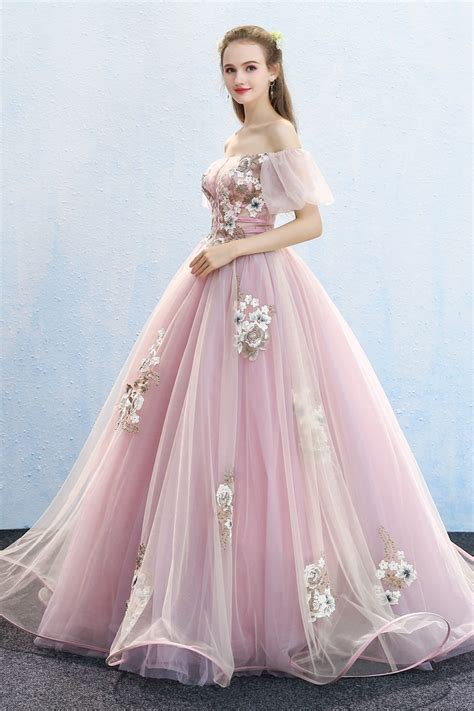real bubble sleeve princess ball gown queen gown