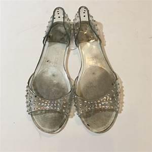 Aldo Shoes Aldo Clear Jelly Rhinestone Sandals Sz 37