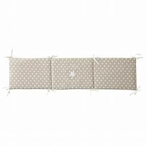 Maison Du Monde Lit Bebe : tour de lit b b en coton beige 45 x 180 cm pastel ~ Zukunftsfamilie.com Idées de Décoration