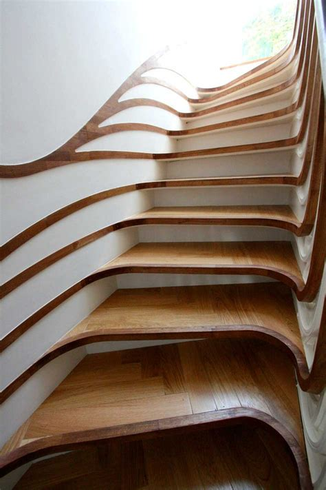 unique cool corner designs curved staircase digsdigs