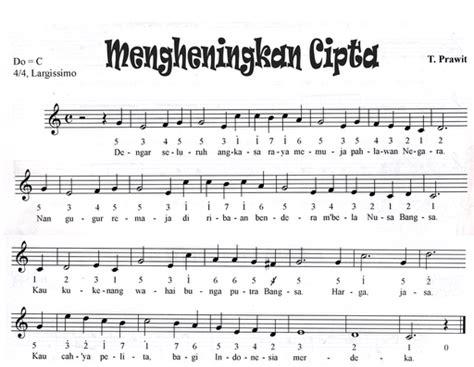 lirik lagu jembatan merah beserta notnya not angka mengheningkan cipta not angka lagu terbaru