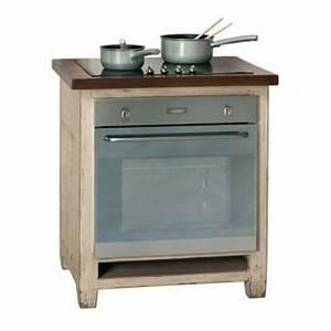 Meuble Plaque Cuisson : meuble four encastrable brocante meubles de cuisine style campagne ~ Teatrodelosmanantiales.com Idées de Décoration