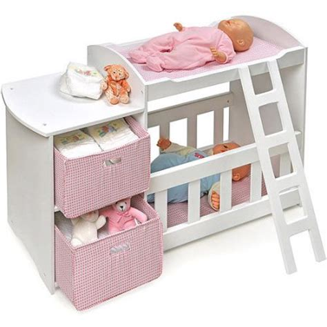 Baby Doll Beds Walmart by Badger Basket Doll Crib And Changing Station With 2
