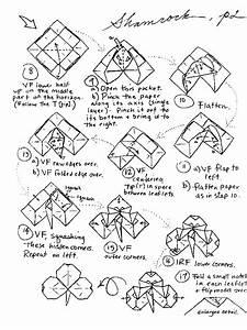 Origami 4 Leaf Clover Diagram