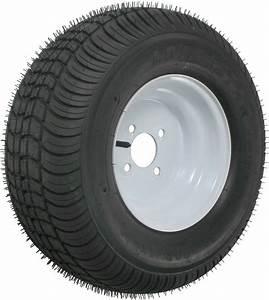 Kenda 205  65-10 Bias Trailer Tire With 10 U0026quot  White Wheel