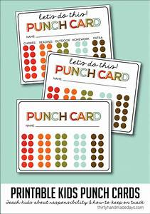 chore punch card template 15 easy chore charts