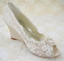 white wedding wedges shoes rhinestones bridal shoes 39 s wedding shoes wedges lace shoes pointed toe bridal ivory