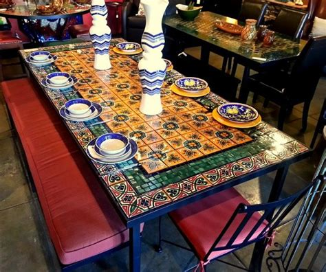 Mosaic Tile Outdoor Table by Mexican Tile Tabletops Tile Tile Tile Mosaic Coffee