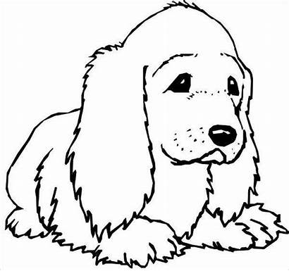 Coloring Dog Pages Printable Template Templates Colouring
