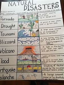 Natural Disaster Anchor Chart For My 4th Grade Class  I