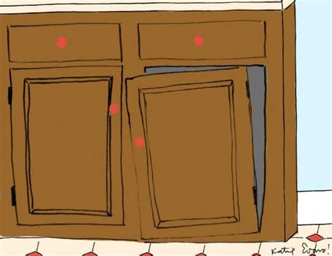 how to fix a cabinet door how to repair common kitchen mishaps and accidents