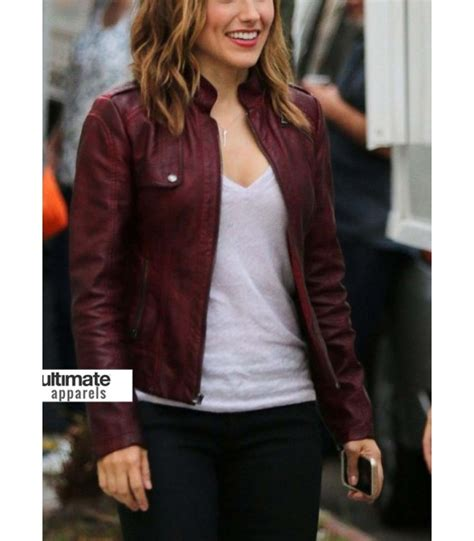 Chicago PD Sophia Bush (Erin Lindsay) Maroon Jacket