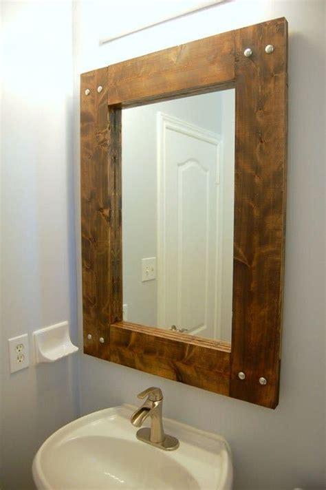 Diy Bathroom Mirror by Best 25 Rustic Bathroom Mirrors Ideas On Wood