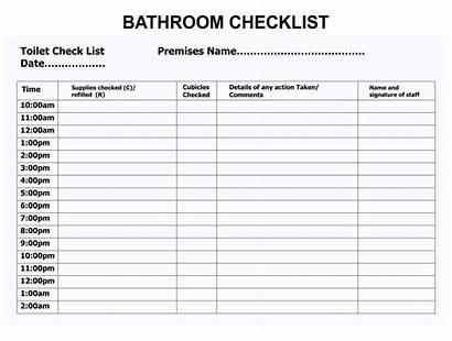 Bathroom Printable Schedule Clean Templates Sheet Checklist