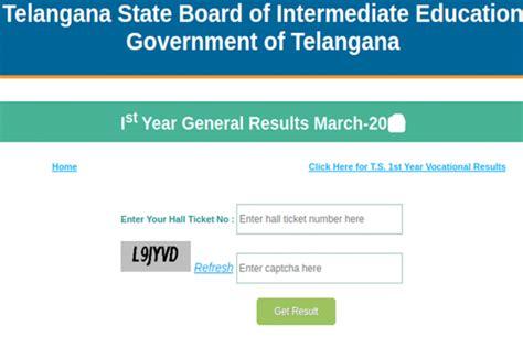 Telangana TS Inter Result 2020 LIVE Updates ...