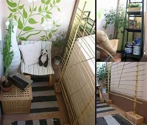 cooler kleiner balkon 40 kreative und praktische ideen With balkon teppich mit tapete hirsch grün