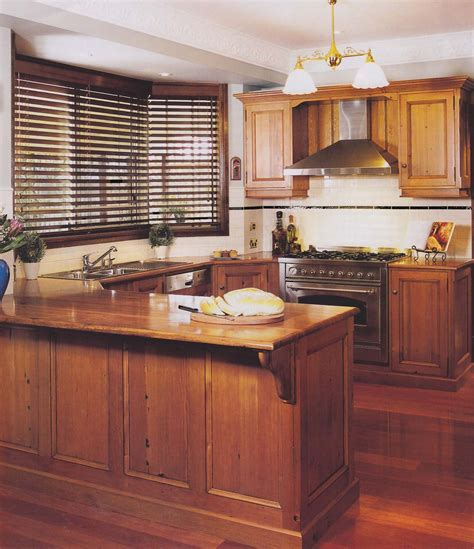 Timber Cupboards by Rich Timber Kitchen With Oregon Cupboards Blackbutt
