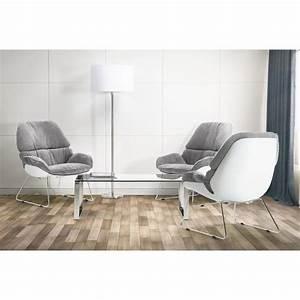Fauteuil Gris Clair : fauteuil lounge design lilou en tissu gris clair ~ Teatrodelosmanantiales.com Idées de Décoration