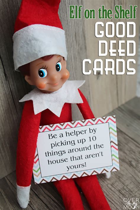 buy on the shelf on the shelf printable deed cards the big moon