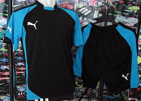 jual setelan kostum futsal sepak bola evo hitam biru setelan futsal setelan bola