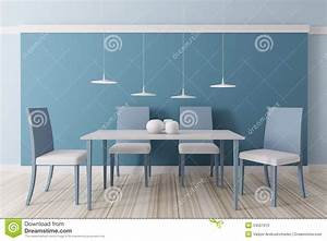 interior of dining room 3d stock photo image 34551970 With couleur de mur tendance
