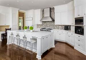 35, Kitchens, With, White, Countertops, Photo, Examples