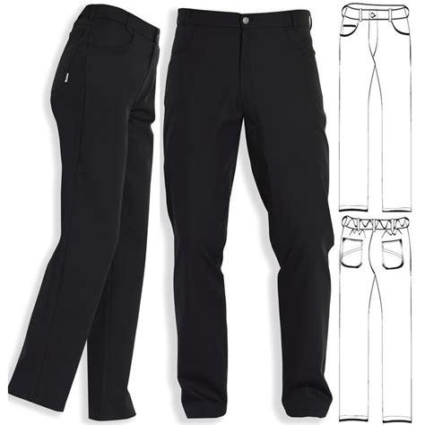 pantalon de cuisine femme pantalon noir mixte coupe jean polyester coton noir