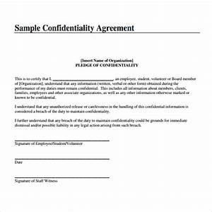 7 free confidentiality agreement templates excel pdf formats for Free letter of confidentiality template