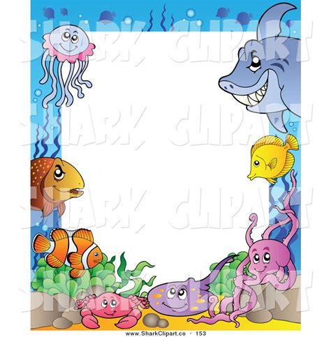 Animal Frame Wallpaper - sea clipart border pencil and in color sea