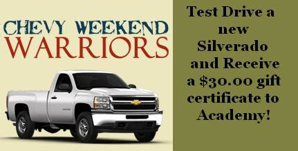 Munday Chevrolet Is Part Of The Chevy Weekend Warriors