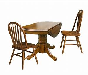 Three Piece Drop Leaf Table and Chair Dining Set by