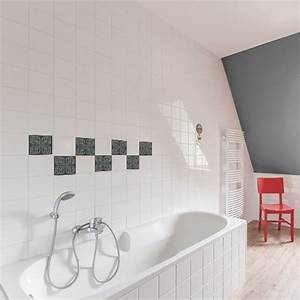 sticker decoratif autocollant motif ciola pour carrelage mural With carrelage adhesif salle de bain avec led visage a domicile