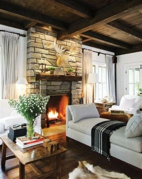 Country Living Room Ideas With Fireplace by 63 Living Room Country House Style Comfortable Living