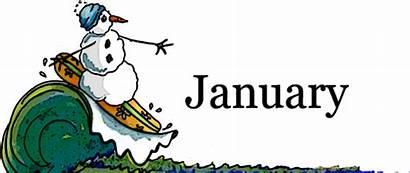 January Clip Clipart Cliparts Velocity Happy Winter
