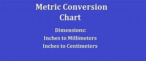 Conversion Chart Cm To Inches Metric Conversion Chart Dimensions