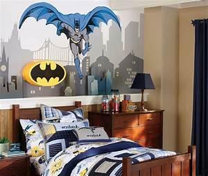 Cozy Boys Bedroom Interior Design with Superheroes Batman ...