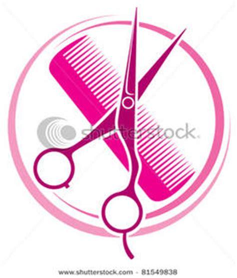 clip art image hair salon design  scissors  comb
