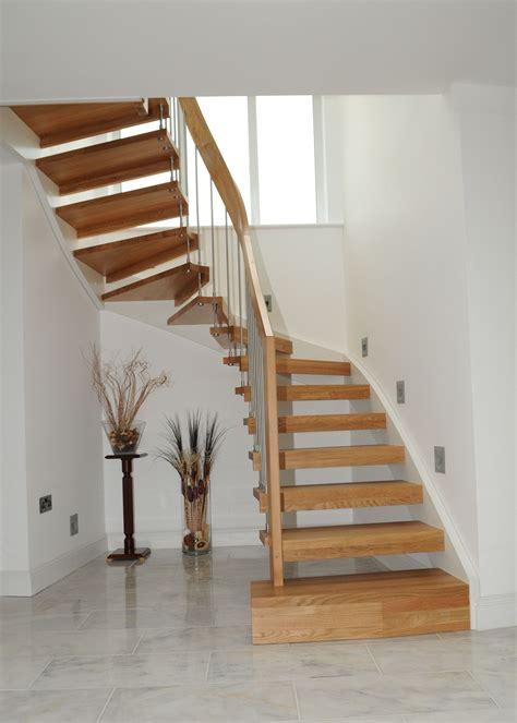 coastal decor ideas open timber stair warsash southton timber stair