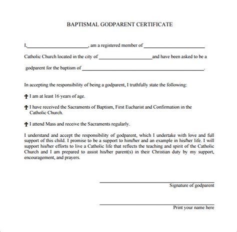 baptism certificate templates samples examples