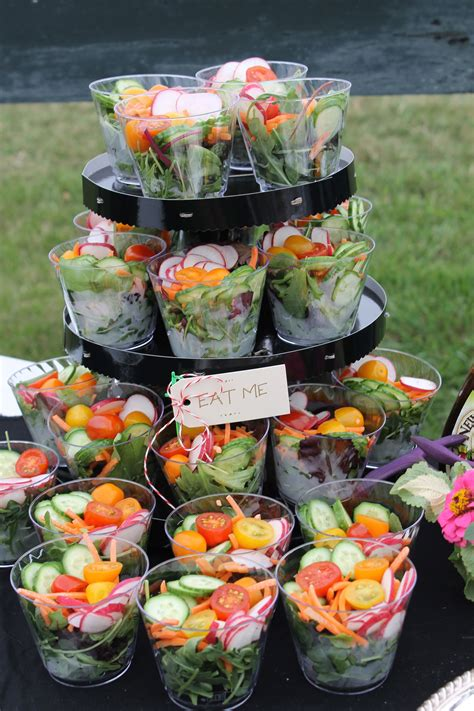 individual salad tower gold cup mad tea party