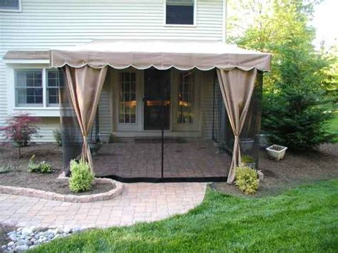 mosquito netting  porch cheaper  traditional screening outdoor diy pinterest