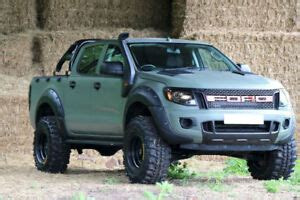 Dfsk Supercab Picture by Ford Ranger T6 Pair Of Black Bonnet Scoops Small Bonnet