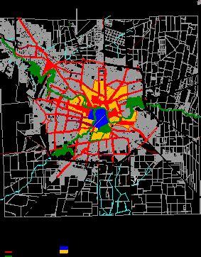 cordoba capital urban structure dwg block  autocad