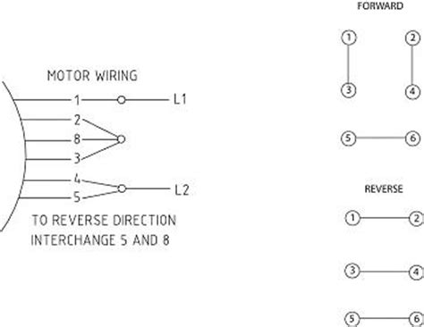 Wiring Drum Switch Reverse Single Phase Motor