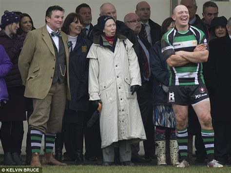 Princess Anne and Zara watch Mike Tindall play rugby ...