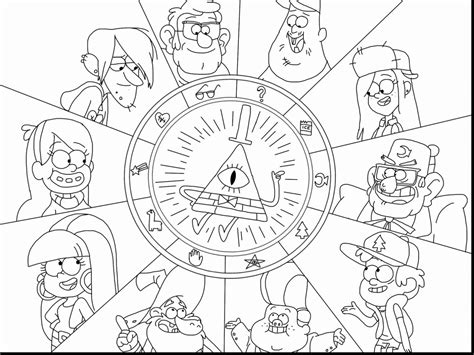 gravity falls coloring pages getcoloringpagescom