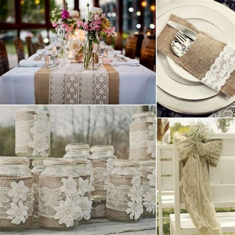 rustic table linens for weddings rustic wedding table linens burlap and lace wedding