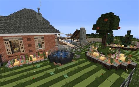 large suburban house minecraft house design